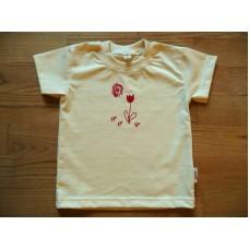Tričko s krátkým rukávem  s kytičkou 122